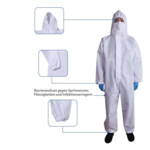 Schutzanzug Coverall und infektionsschutzkleidung kaufen, MEDIZINISCHE SCHUTZKLEIDUNG FÜR PRAXIS, KLINIK UND PFLEGEHEIM