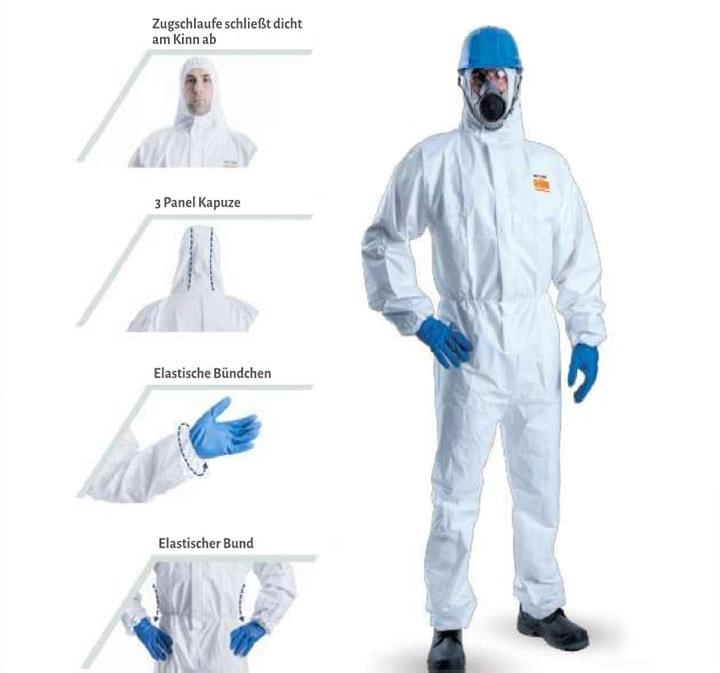 Schutzanzug Coverall level 3 und infektionsschutzkleidung kaufen