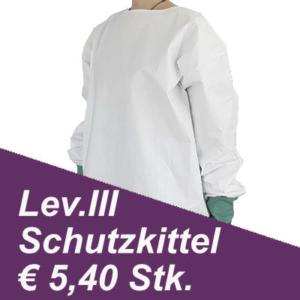 schutzkittel Infektionsschutz level 3 angebot € 5,40