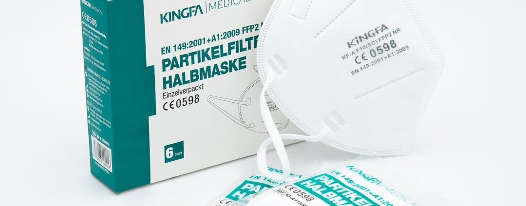 Kingfa FFP2 6 Stück Packung einzeln verpackt